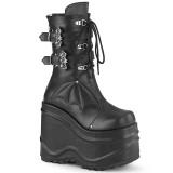 Vegan 15 cm WAVE-150 demonia knee boots wedges platform