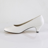 Vegan 6 cm FEFE-01 pumps for mens and drag queens in white