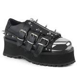 Vegan 7 cm GRAVEDIGGER-03 Plateau Gothic Schuhe Herren