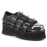 Vegan 7 cm GRAVEDIGGER-03 Platform Mens Gothic Shoes