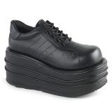 Vegan 9 cm TEMPO-08 Plateau Gothic Schuhe Herren