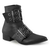 Vegan WARLOCK-55 herren boots - winklepicker spitze stiefeletten 2-schnallen