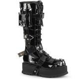 Vegan black 5 cm SLACKER-260 cyberpunk platform boots
