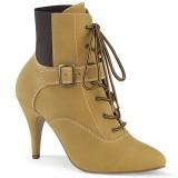 Vegan braun 10 cm DREAM-1022 ankle booties high heels für männer