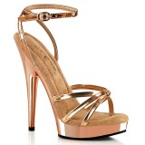 Vegan gold rose sandals 15 cm SULTRY-638 fabulicious high heels sandals