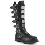 Vegan leather RIOT-21MP demonia boots - unisex steel toe combat boots