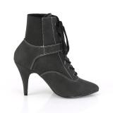Vegan schwarz 10 cm DREAM-1022 ankle booties high heels für männer