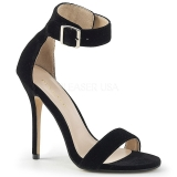 Velvet 13 cm Pleaser AMUSE-10 high heeled sandals
