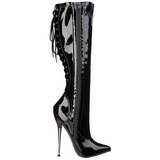 Vinyl 16 cm DAGGER-2064 fetisch stiefel high heels