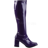 Violet Shiny 8,5 cm GOGO-300 High Heeled Womens Boots for Men