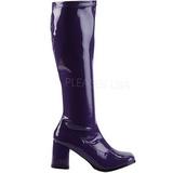 Violett Lack 8,5 cm GOGO-300 High Heels Damenstiefel für Männer