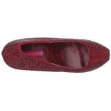 Weinrot Strass 14,5 cm Burlesque TEEZE-06R Plateau Damen Pumps Schuhe