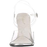 Weiss 11,5 cm FABULICIOUS GALA-08 Abend Sandaletten mit Absatz