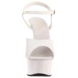Weiss 15 cm DELIGHT-609 pleaser high heels mit plateau