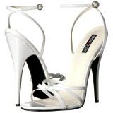 Weiss 15 cm Devious DOMINA-108 Sandaletten mit high heels