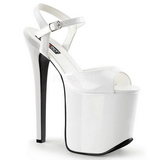 Weiss 18,5 cm Devious TRAMP-709 Fetish High Heels Schuhe