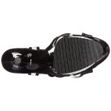 Weiss 18 cm Pleaser MOON-728 Platform High Heel Schuhe