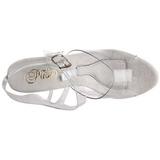 Weiss 18 cm TIPJAR-708-5 stripper sandaletten mit geldfach