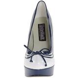 Weiss Blau 13 cm LOLITA-13 Hohe Pumps Abend Schuhe mit Absatz