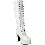Weiss Lack 10,5 cm EXOTICA-2020 Damen Schnürstiefel High Heels