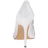 Weiss Lack 10 cm CLASSIQUE-20 Damen Pumps Stiletto Absatz