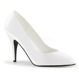 Weiss Lack 10 cm VANITY-420 Damen Pumps Schuhe Flach