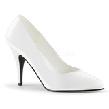 Weiss Lack 10 cm VANITY-420 High Heels Pumps für Männer