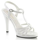 Weiss Lack 12 cm FLAIR-420 High Heel Sandaletten Damen