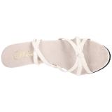 Weiss Lack 12 cm FLAIR-436 High Heel Sandaletten Damen