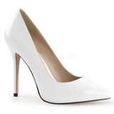 Weiss Lack 13 cm AMUSE-20 Damen Pumps Stiletto Absatz