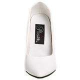 Weiss Lack 13 cm SEDUCE-420 spitze pumps high heels
