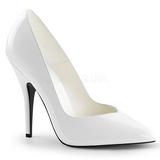 Weiss Lack 13 cm SEDUCE-420V spitze pumps high heels