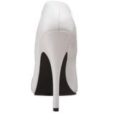 Weiss Lack 15 cm DOMINA-420 hohe stiletto pumps spitz