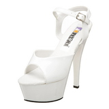 Weiss Lack 15 cm FUNTASMA JULIET-209 Plateau High Heels