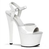 Weiss Lack 18 cm Pleaser SKY-309 Plateau High Heel Schuhe