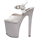 Weiss Lack 20 cm Pleaser XTREME-809 Plateau High Heels