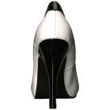 Weiss Lackleder 12,5 cm EVE-07 grosse grössen pumps schuhe