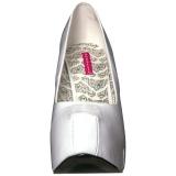 Weiss Lackleder 14,5 cm Burlesque TEEZE-06W herren pumps für breite füsse