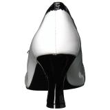 Weiss Lackleder 7,5 cm JENNA-06 grosse grössen pumps schuhe