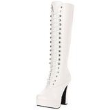 Weiss Matt 13 cm Pleaser ELECTRA-2020 Plateau Stiefel