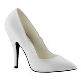 Weiss Matt 13 cm SEDUCE-420 Damen Pumps Schuhe Flach