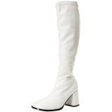 Weiss Matt 8,5 cm GOGO-300 High Heels Damenstiefel für Männer