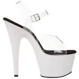 Weiss Neon 18 cm ADORE-708UV Plateau High Heels