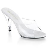 Weiss Transparent 11 cm CARESS-401 Damen Mules Schuhe