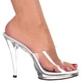Weiss Transparent 12 cm FLAIR-401 Mules Damen Schuhe für Herren