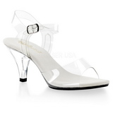 Weiss Transparent 8 cm Pleaser BELLE-308 High Heels
