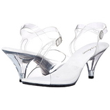 Weiss Transparent 8 cm Pleaser BELLE-308 High Heels