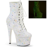 Weiss glitter 18 cm ADORE-1020GDLG pole dance ankel boots