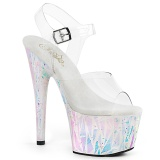 Weiss transparent 18 cm ADORE-708SPLA-2 exotic pole dance schuhe