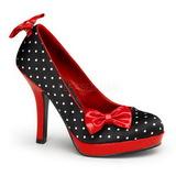 Weisse Punkten 12 cm SECRET-12 Pumps Damen Schuhe